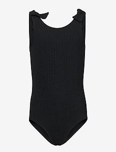 Swimsuit BG rib with knots - swimsuits - black