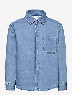 Shirt overshirt denim - skjortor - blue