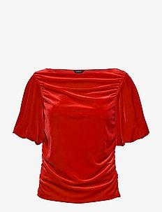 top Fabulous - kortermede bluser - red