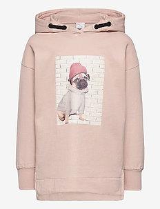 Sweater hoodie Camille - hettegensere - pink