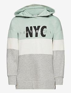Sweater hoodie Camille - hettegensere - turquoise