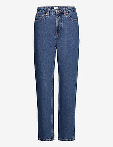 Trousers denim Betty mid blue - straight jeans - blue