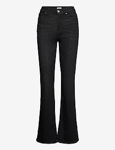 Trousers denim Mira black - utsvängda jeans - black
