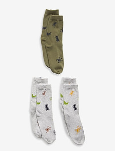 Sock SB 3p insects - strømper - grey