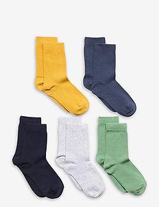 Socks 5p SB plain fashion col - sokken - green