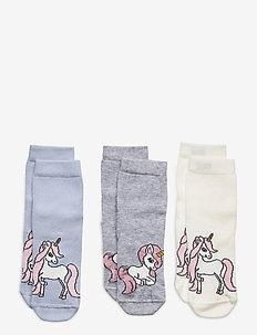 Sock 3p SG unicorn - strømper - blue
