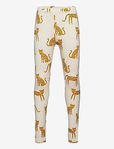 Leggings Leo animals - leginsy - beige