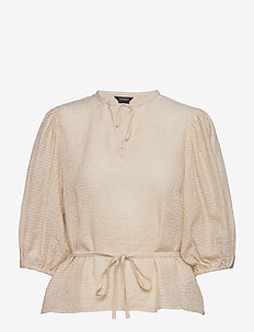 blouse Dora - langärmlige blusen - beige