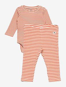 Set Body rib y d stripe - 2-piece sets - orange