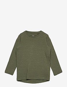 Top Ls Basic slub - manches longues - khaki
