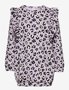 Top long stylish leo print - blouses & tunics - lilac