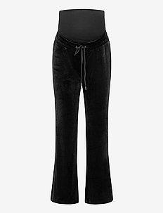 Trousers MOM Rose velour - broeken - black