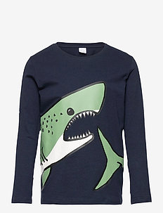 Top LS Shark Placed - lange mouwen - blue