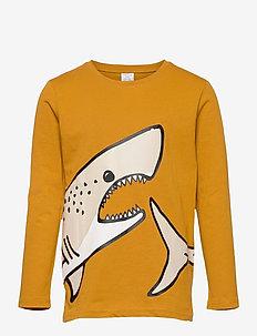 Top LS Shark Placed - lange mouwen - yellow