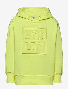 Sweatshirt hood embossed - kapuzenpullover - green