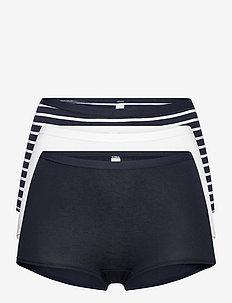 Brief 3 pack Carin Boxer high - culottes midi & maxi - blue