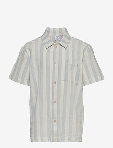 Shirt shortsleeved  linen cott - shirts - white