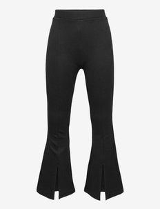 Trousers Iris flare - broeken - black
