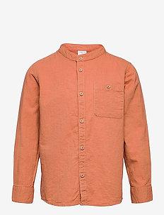Shirt Linen - overhemden - brown