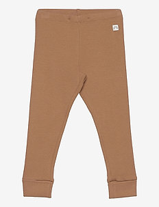 Leggings rib solid X9 - leggings - brown
