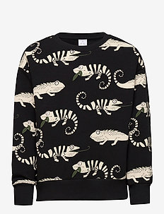 Sweater aop chameleon - sweatshirts - black