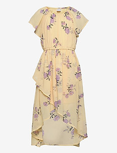 Dress hi and low Hillary - kleider - yellow