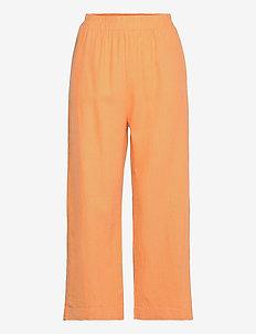 Trouser Bella linen - bukser med brede ben - orange