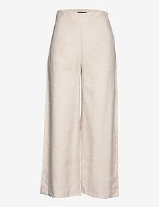 Trouser Sanna cropped - bukser med brede ben - beige