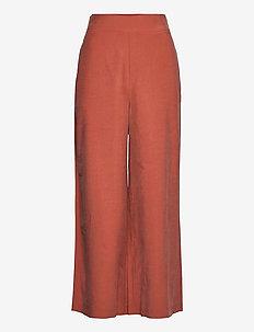 Trouser Sanna cropped - bukser med brede ben - red