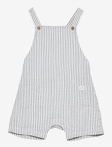 Shorts bib seersucker - overalls - blue