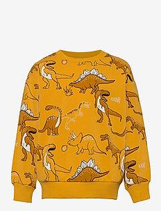 Sweater Dino AOP - sweat-shirt - yellow