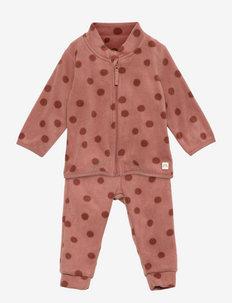 Set microfleece - fleece sets - pink