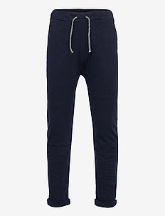 Thin slub trousers   knee - sweatpants - blue