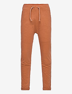 Thin slub trousers   knee - sweatpants - brown