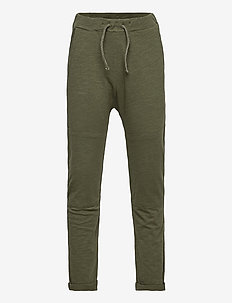 Thin slub trousers   knee - sweatpants - khaki
