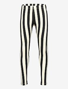 Leggings Vertical stripe - leggings - black
