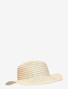 Straw hat multicol neps - kepsar - pink