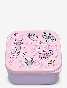 Box picnic Cats - pudełka śniadaniowe - lilac