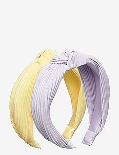 Diadem 2 p knot plisse - hair accessories - lilac