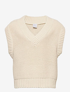Sweater Vest Vera - vests - beige