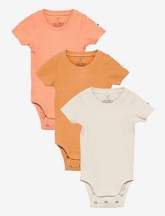 Body rib short sleeve 3 pack - kurzärmelige - beige