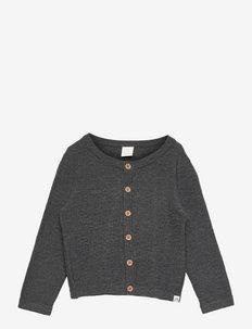 Cardigan slub knit X9 - gilets - grey