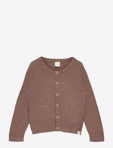 Cardigan slub knit X9 - gilets - khaki