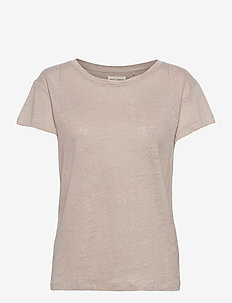 Top Nell Linen - t-shirts - grey