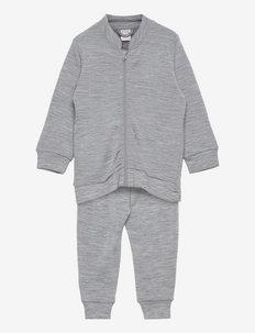 Set wool terry - base layers - grey