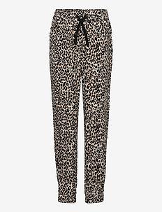 Trousers viscose Leo puff - trousers - beige
