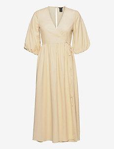 Dress Andromeda - slå-om-kjoler - yellow
