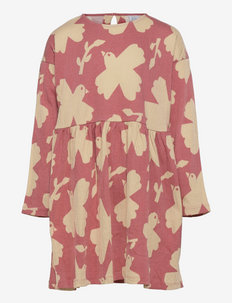 Dress tricot loose fit ao prin - kleider - pink
