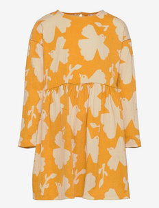 Dress tricot loose fit ao prin - kleider - yellow
