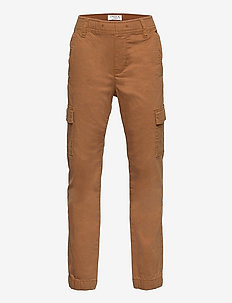 Trousers cargo loose - trousers - brown